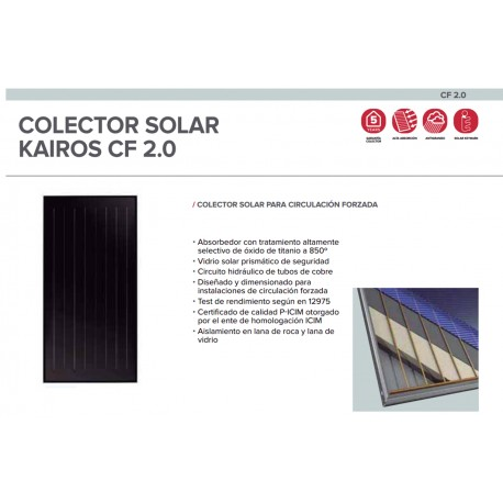 Captador solar plano Ariston KAIROS CF 2.0