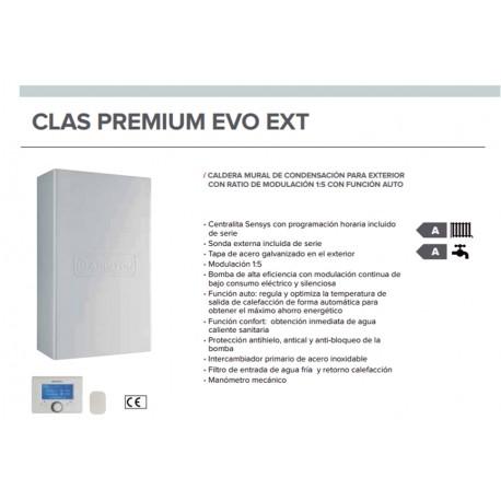 Caldera a gas de condensación Ariston CLAS PREMIUM EVO EXT 25 FF