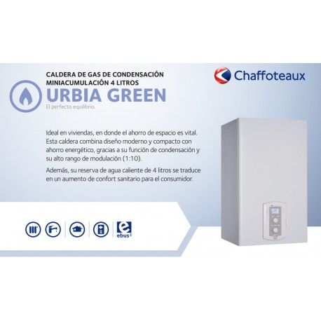 Caldera a gas de condensación Chaffoteaux URBIA GREEN 25 ff