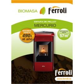 Estufa de Pellets para calefacción de estancias diáfanas MERCURIO